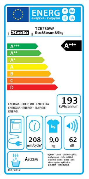 SUŠILICA RUBLJA MIELE TCR 780 WP