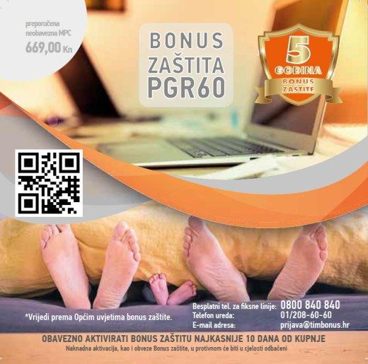 B1 Bonus Zaštita PGR-60 (500kn - 2000kn) 5 godina
